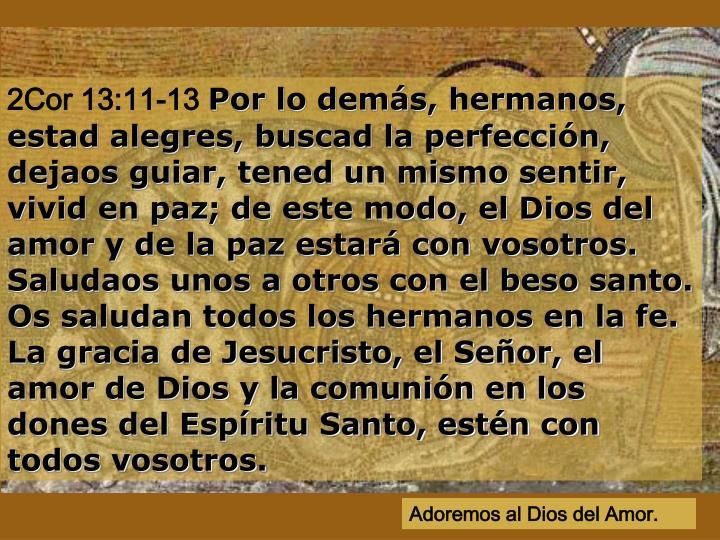 2Cor 13:11-13