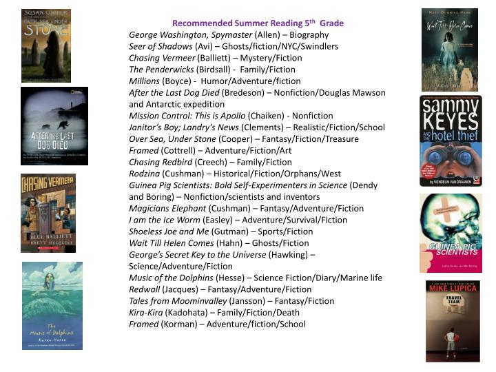Recommended Summer Reading 5