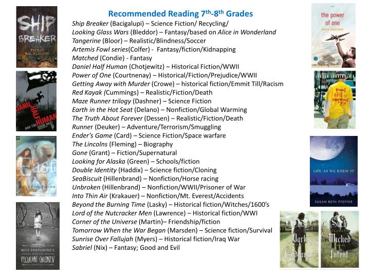 Recommended Reading 7