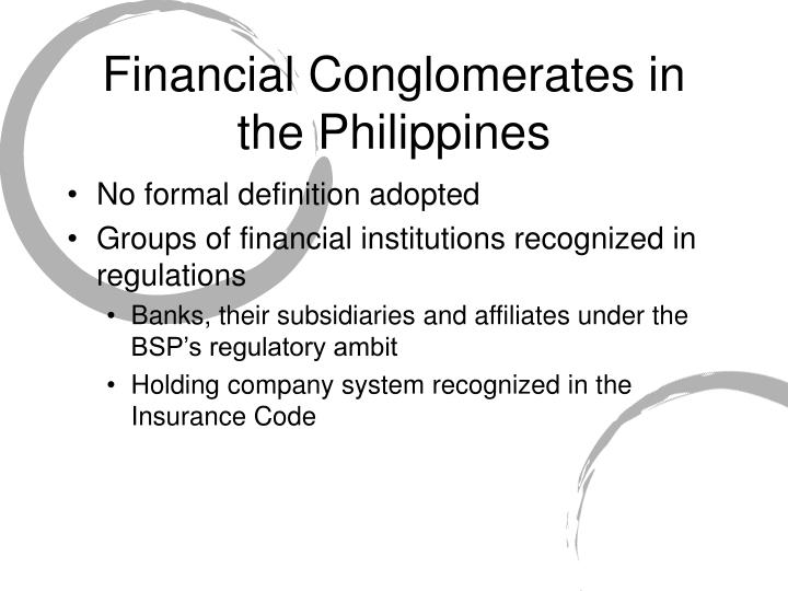 Financial Conglomerates in the Philippines