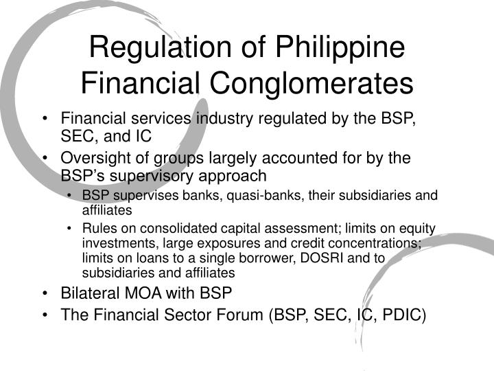 Regulation of Philippine Financial Conglomerates