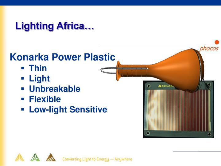 Lighting Africa…