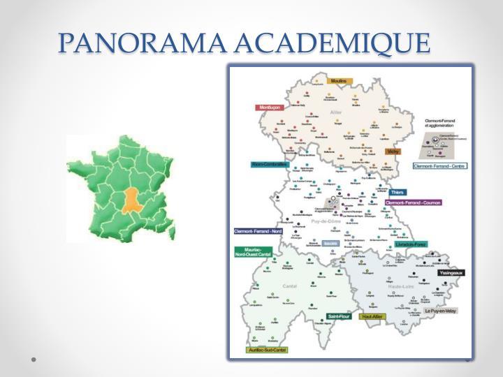 PANORAMA ACADEMIQUE