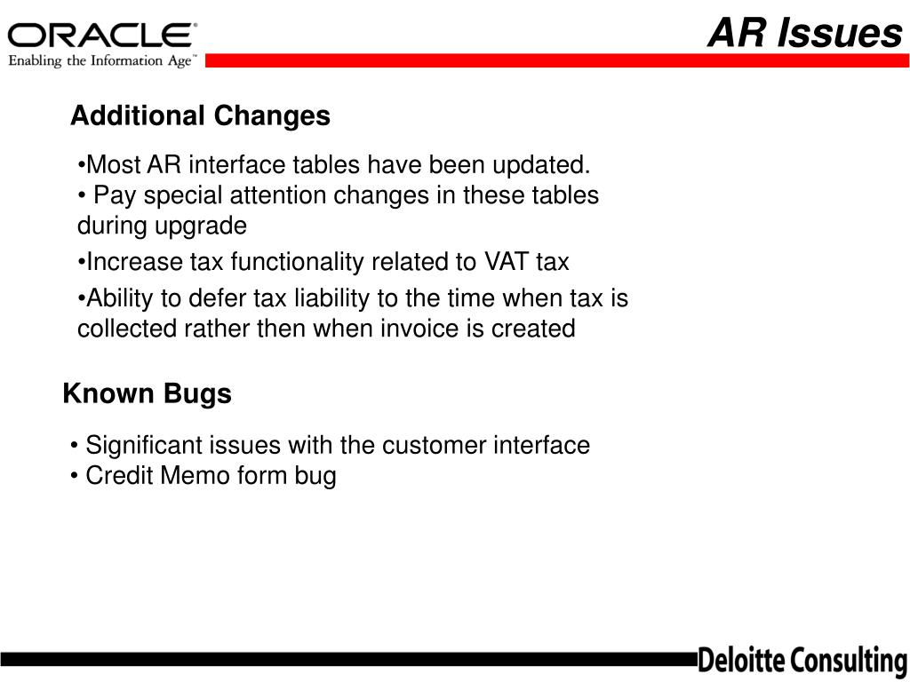 PPT - ORACLE APPLICATIONS USER GROUP GL/AP/AR Release 11i Overview