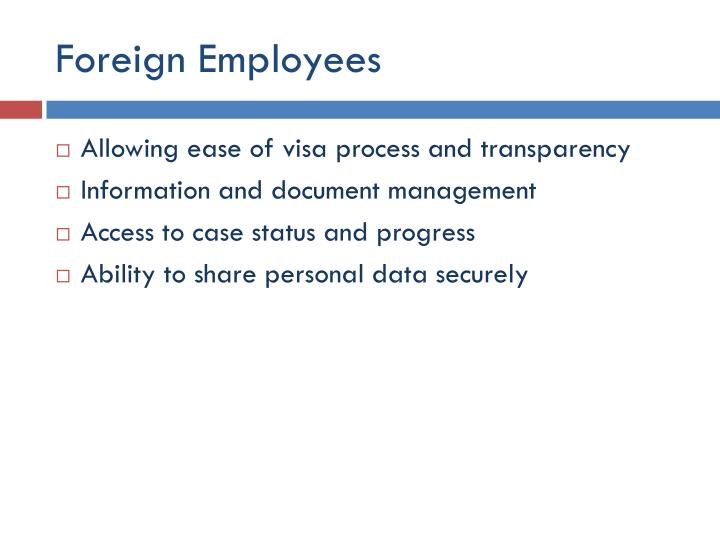 Foreign Employees