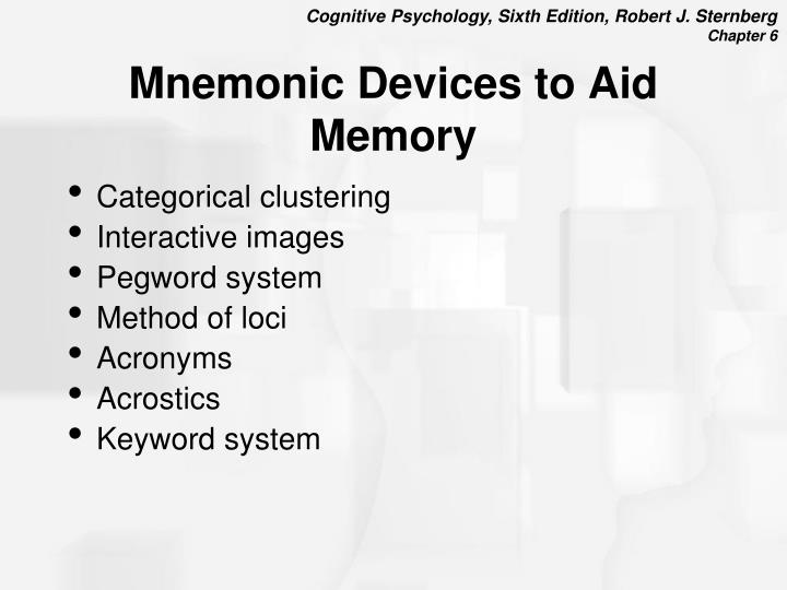 Mnemonic Devices to Aid Memory