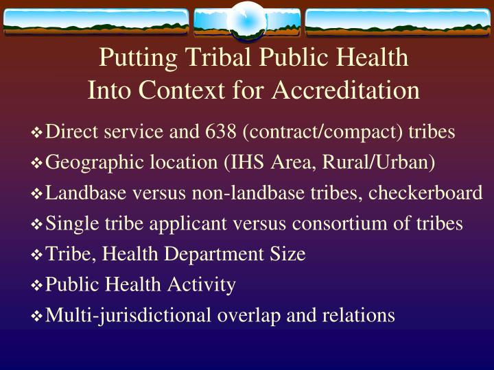 Putting Tribal Public Health