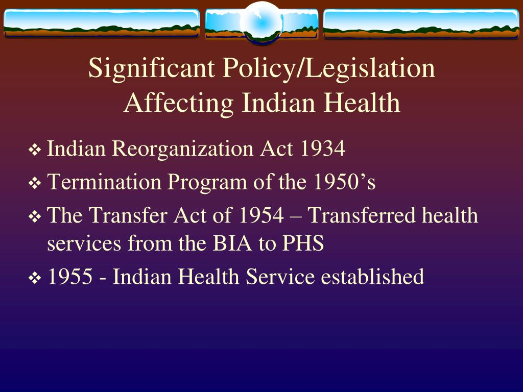 PPT - National Indian Health Board Exploring Tribal Public ...