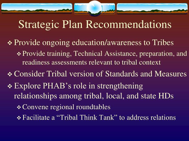 Strategic Plan Recommendations
