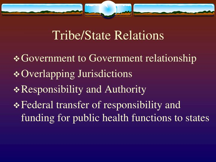 Tribe/State Relations