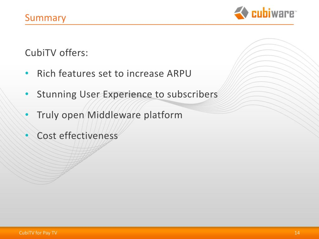 PPT - CubiTV Middleware PowerPoint Presentation - ID:3028573