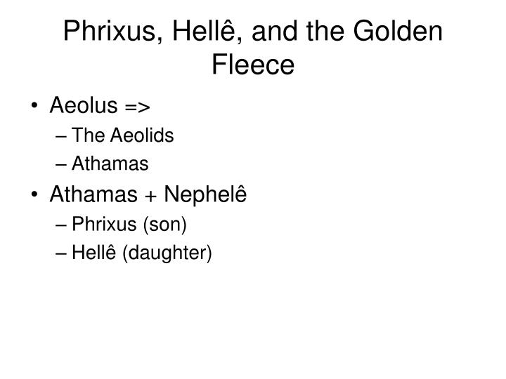 Phrixus, Hell