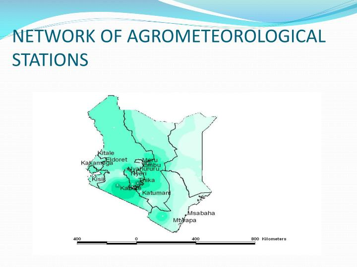 Network of agrometeorological stations