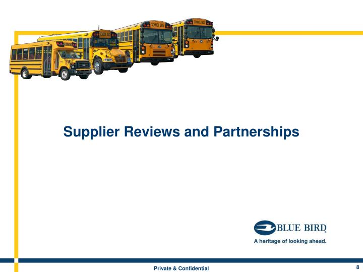 Supplier Reviews and Partnerships