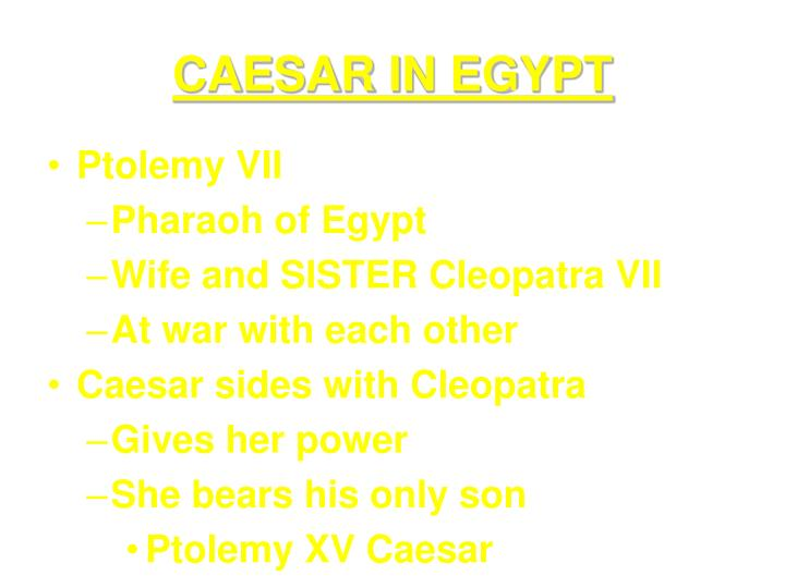 CAESAR IN EGYPT