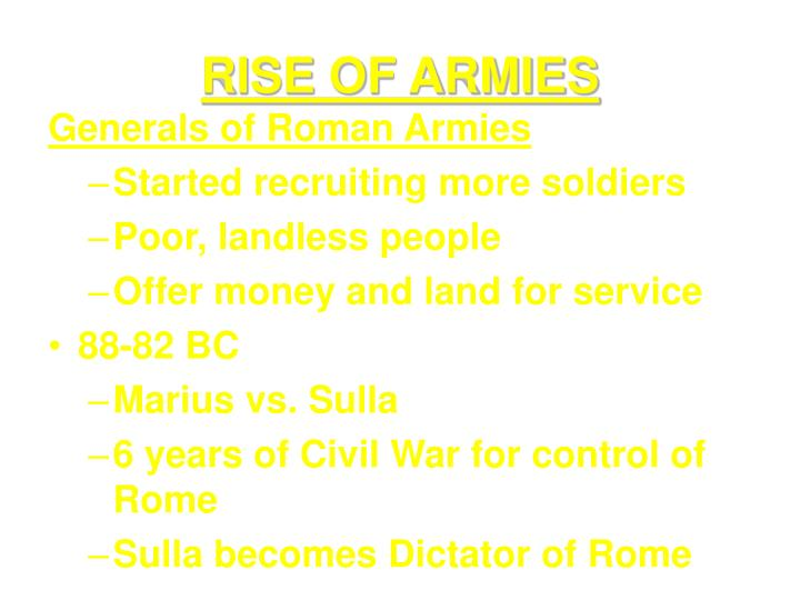 Rise of armies