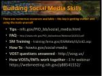 building social media skills