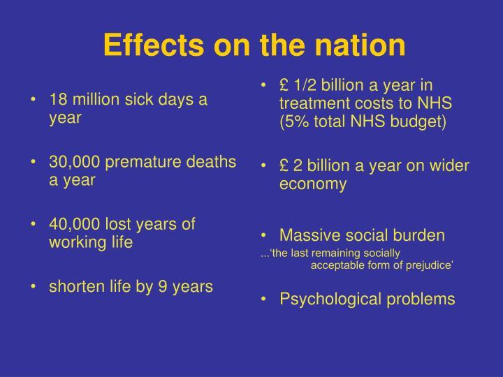 18 million sick days a year