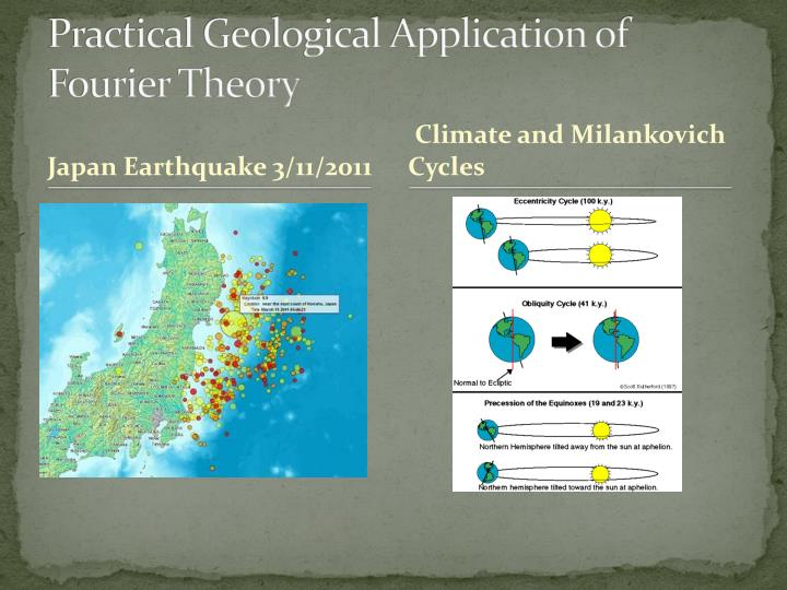 practical geological application of fourier theory n.