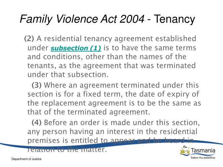 Family Violence Act 2004