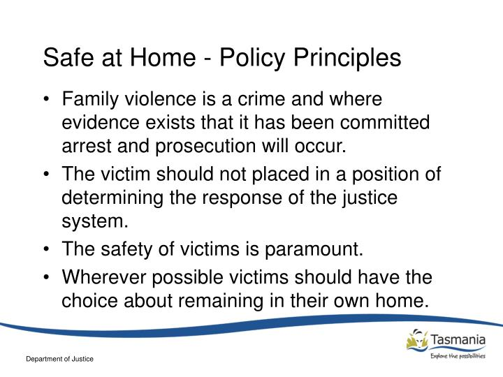 Safe at home policy principles