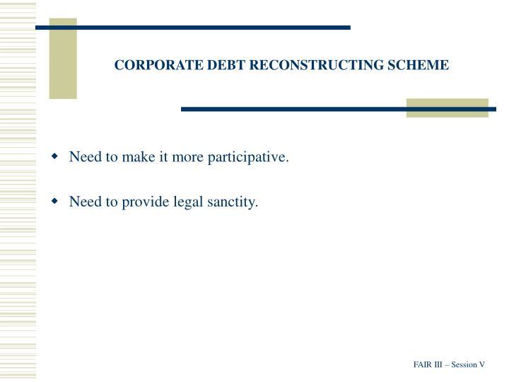 CORPORATE DEBT RECONSTRUCTING SCHEME