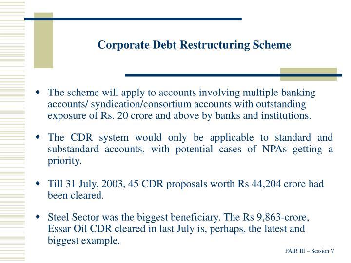 Corporate Debt Restructuring Scheme