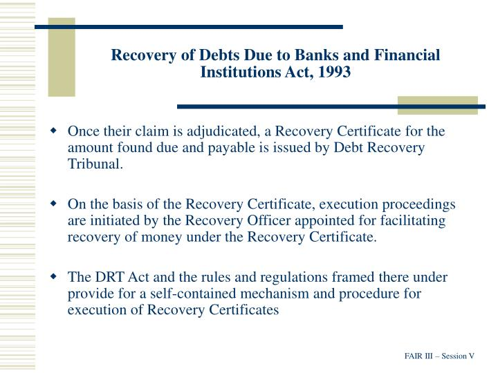 Recovery of Debts Due to Banks and Financial Institutions Act, 1993