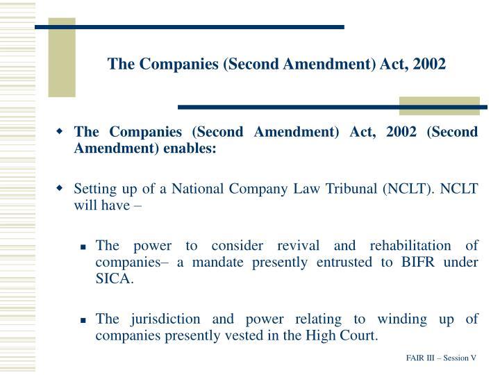 The Companies (Second Amendment) Act, 2002