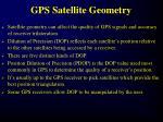 gps satellite geometry