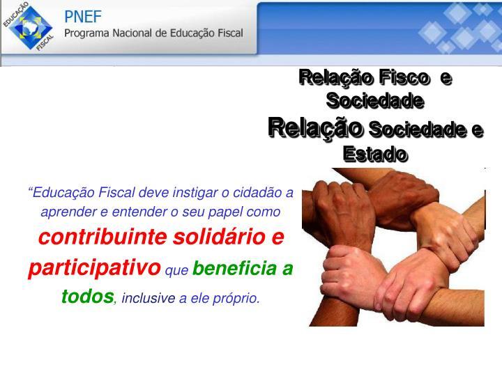 Relação Fisco  e Sociedade