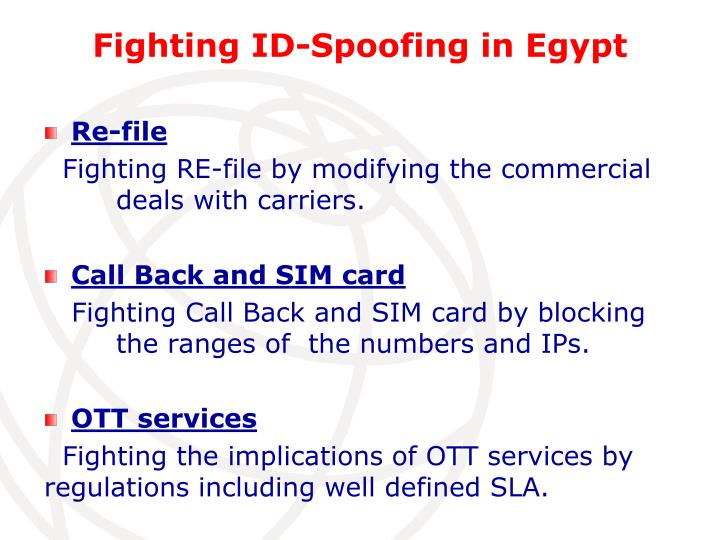Fighting ID-Spoofing in Egypt