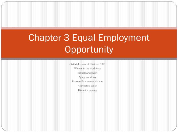 chapter 3 equal employment opportunity n.