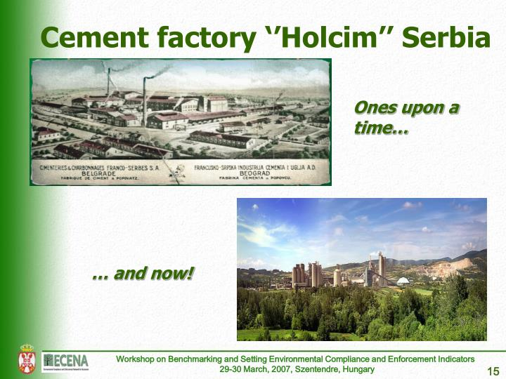 Cement factory ''Holcim'' Serbia