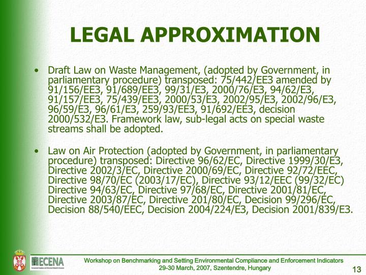 LEGAL APPROXIMATION