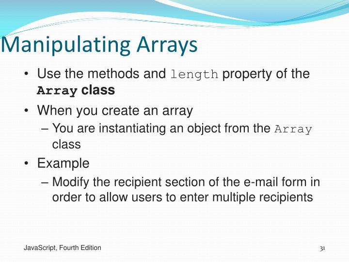 Manipulating Arrays