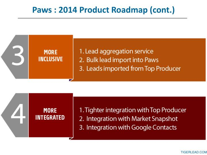 Paws : 2014 Product Roadmap (cont.)