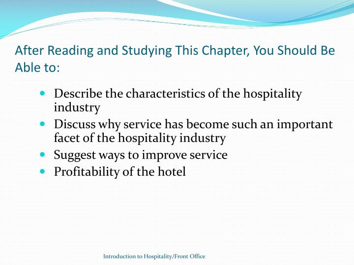 After reading and studying this chapter you should be able to