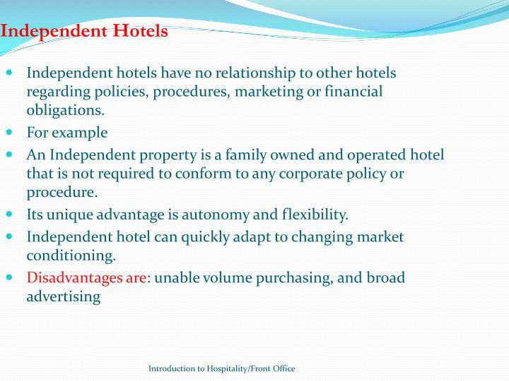 Independent Hotels