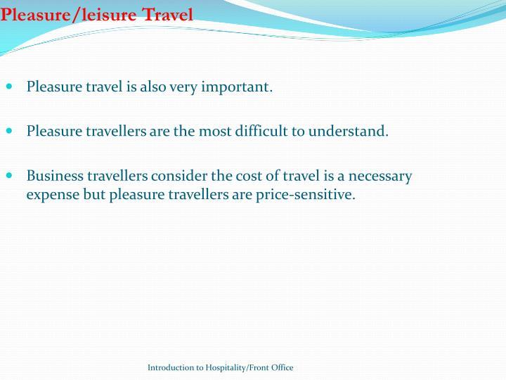 Pleasure/leisure Travel