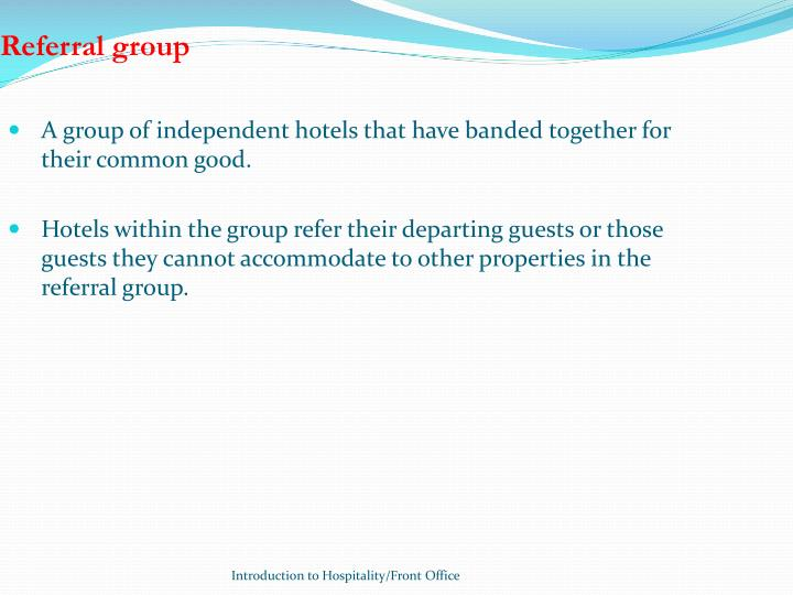 Referral group