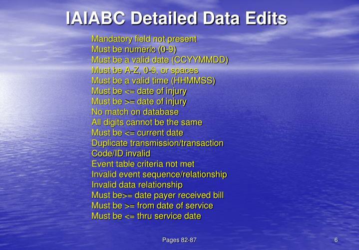 IAIABC Detailed Data Edits
