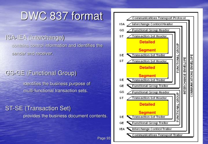DWC 837 format
