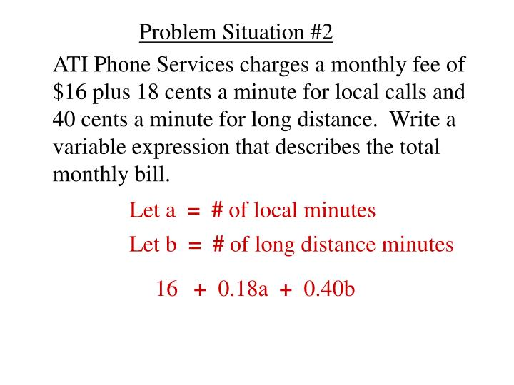 Problem Situation #2