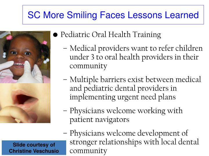 SC More Smiling Faces Lessons Learned