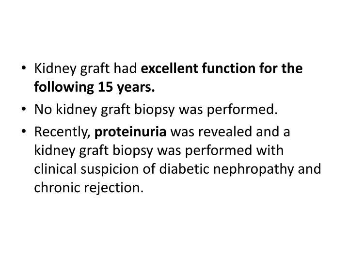 Kidney graft had