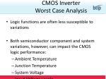 cmos inverter worst case analysis