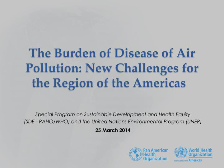 the burden of disease of air pollution new challenges for the region of the americas