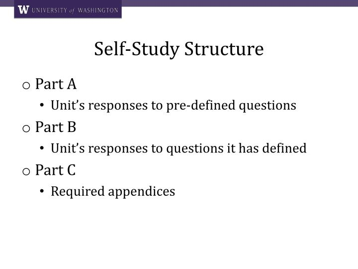 Self-Study Structure