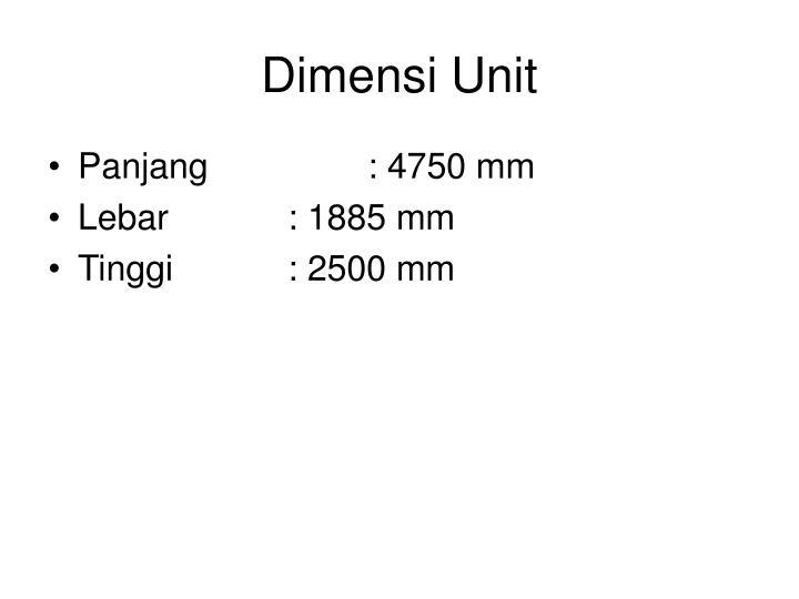 Dimensi unit